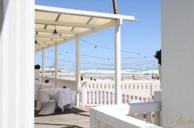 La magnifica veranda direttamente in spiaggia