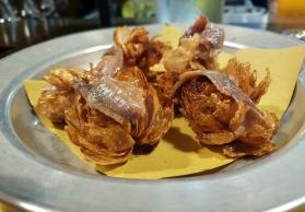 Passione Gourmet: Lampascioni fritti e acciughe del Cantabrico