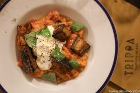 Viaggiatore Gourmet: Pappa al pomodoro, stracciatella, melanzane fritte e basilico