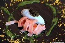 Viaggiatore Gourmet: Gelato di anguilla, caviale Oscietra, pasta alla rosa canina e battuto alle erbe selvatiche
